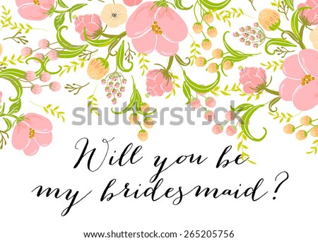 free will you be my bridesmaid card design vector download free