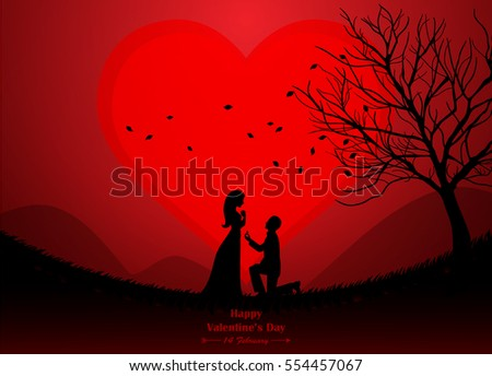 wedding  valentine  silhouette