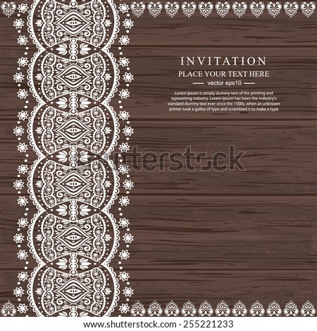 wedding vector invitation with