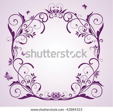 flower frame clipart. flower frame clipart. violet