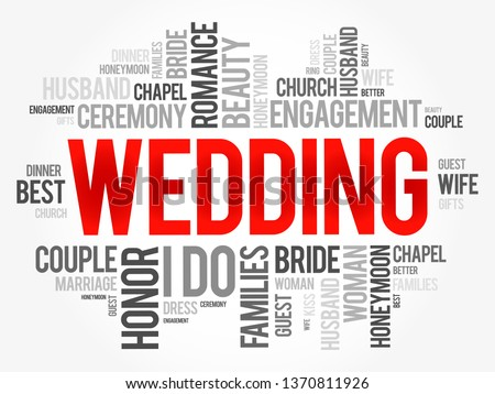 wedding word cloud collage