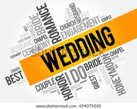 wedding word cloud collage