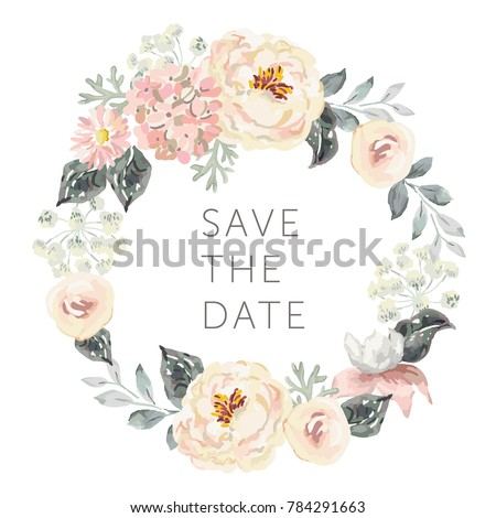 wedding wreath save the date....