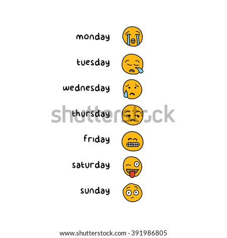 week emotions design concept