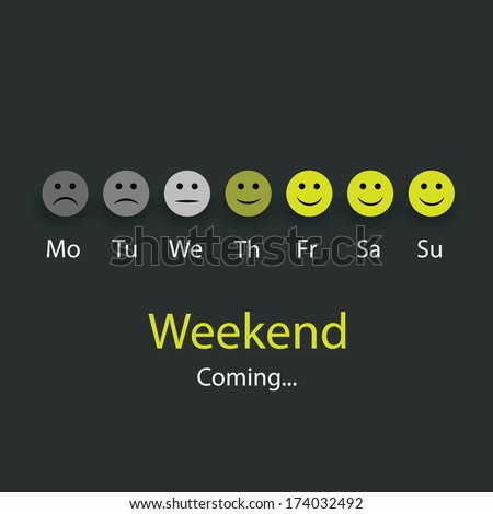 weekend coming   design concept