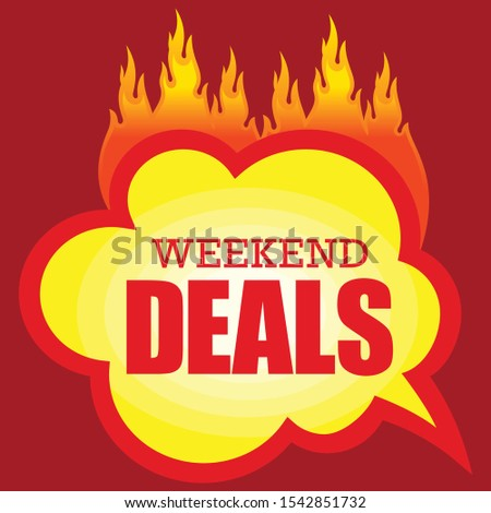 Weekend Deals, Price reduction tag, Weekly Specials sale banner template, special offer, best price ever. Vector illustration