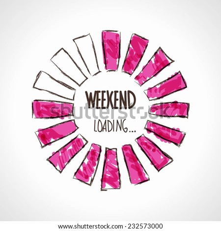 Weekend, loading. Business concept. Vector illustration.