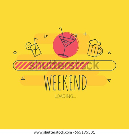 Weekend loading - vector illustration