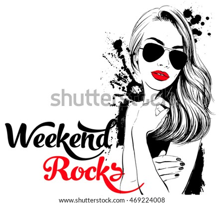 weekend rocks girl in sunglasses