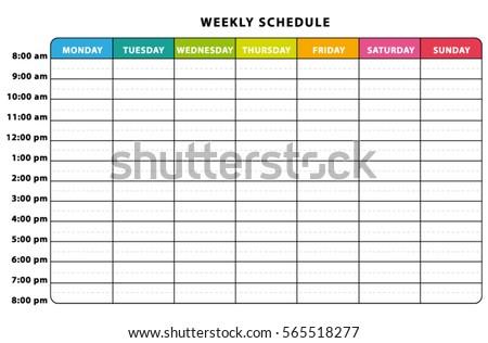 weekly schedule planner