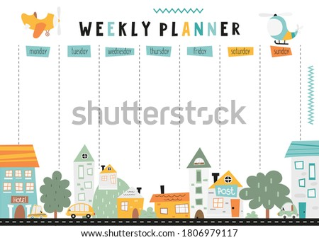 weekly planner with nordic