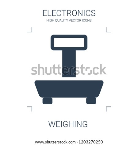 weighing icon. high quality filled weighing icon on white background. from electronics collection flat trendy vector weighing symbol. use for web and mobile