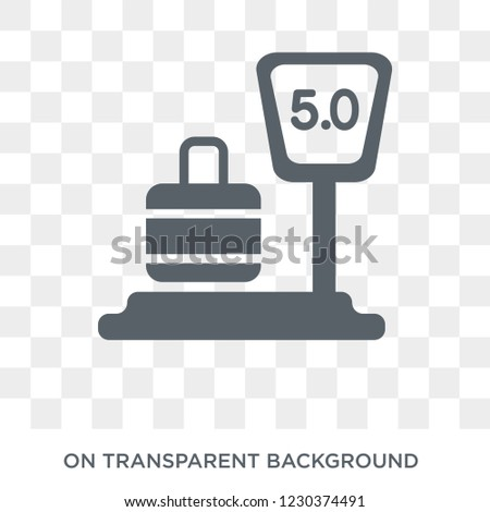 Weighing icon. Trendy flat vector Weighing icon on transparent background from Electronic devices collection. High quality filled Weighing symbol use for web and mobile