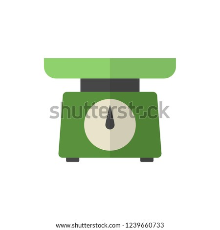 weighing-machine flat vector icon