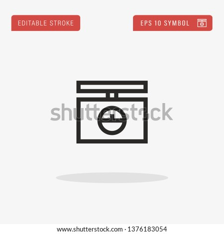 Weighing Machine linear vector icon. Modern outline Weighing Machine logo concept from Logistic collection. Suitable for use on web apps, mobile apps and print media.