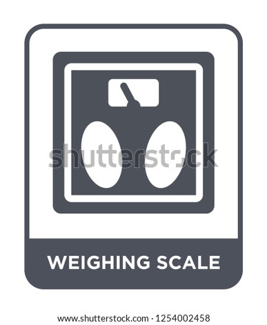weighing scale icon vector on white background, weighing scale trendy filled icons from Gym and fitness collection, weighing scale simple element illustration