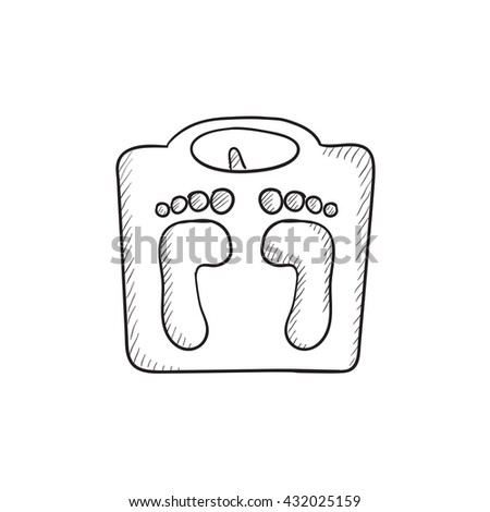 weighing scale vector sketch...