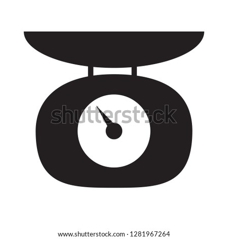 Weighing scales icon on white background. flat style. Weighing scales icon for your web site design, logo, app, UI. balance symbol. Weighing scales sign.