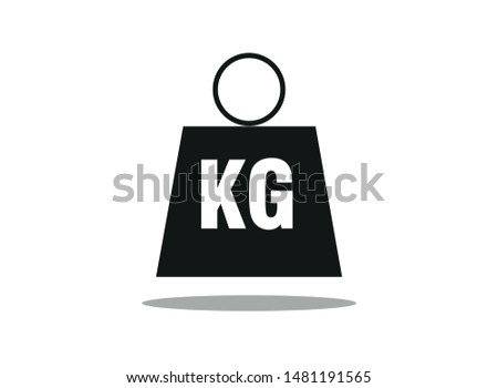 weight icon in tendy flat style. mass/ KG symbol for your web - vector eps 10