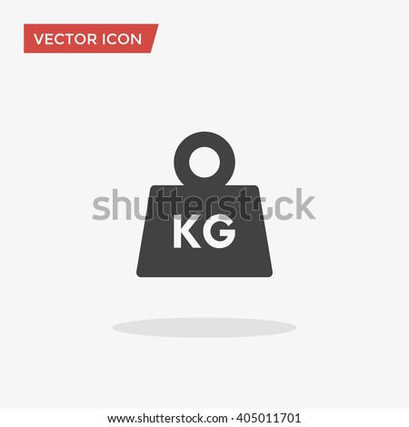 weight icon in trendy flat