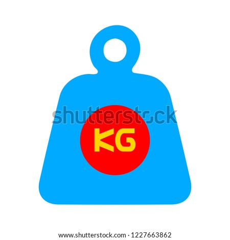 weight icon on white background. flat style. weight symbol. weight kilogram sign