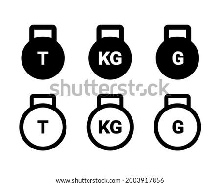 Weight icon. Ton, kilogram, gram. Illustration vector Photo stock ©