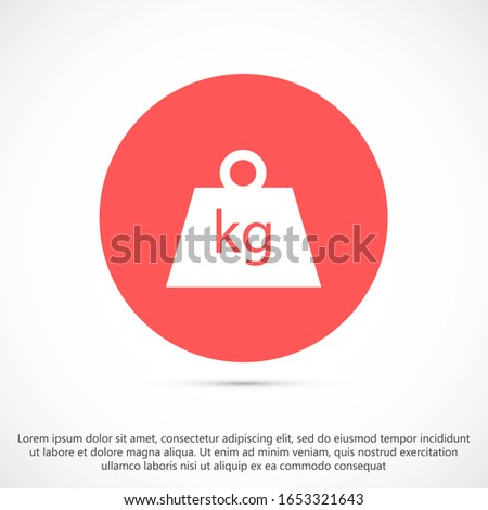 Weight Icon vector in trendy flat style isolated on grey background. Mass symbol for your web site design, logo, app, UI.Weight Icon vector illustration, Weight Icon vector