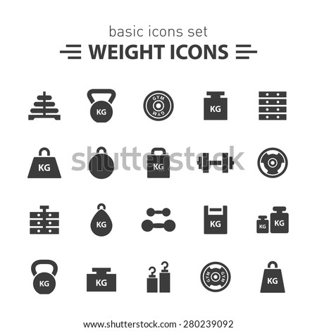 Weight icons set.
