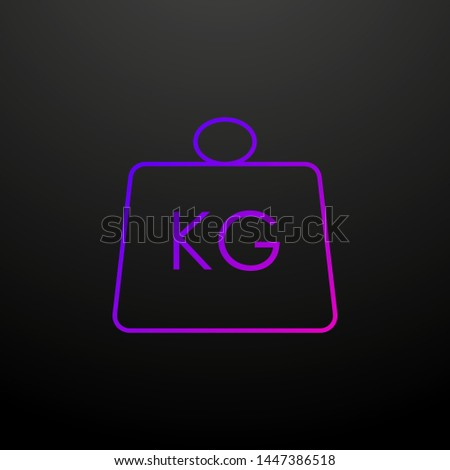 Weight kg nolan icon. Elements of logistics set. Simple icon for websites, web design, mobile app, info graphics