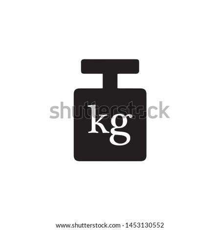 weight kg symbol vector use for packaging