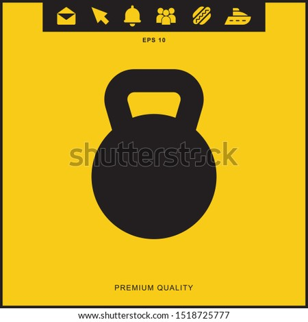 Weight kilogram icon illustration isolated vector sign symbol