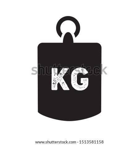 Weight kilogram icon. Vector illustration