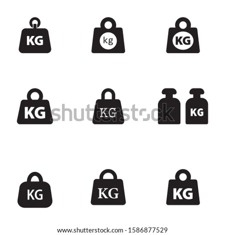 Weight kilogram icon vector isolated