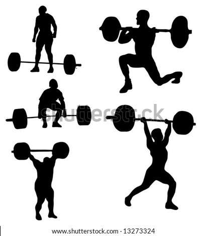 Weight lifters - Silhouettes