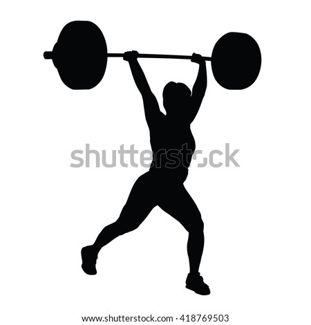 Royalty-free Weightlifting woman silhouette #416028853 Stock Photo | Avopix.com