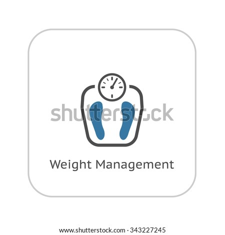 Weight Management Icon. Flat Design. Isolated Illustration.