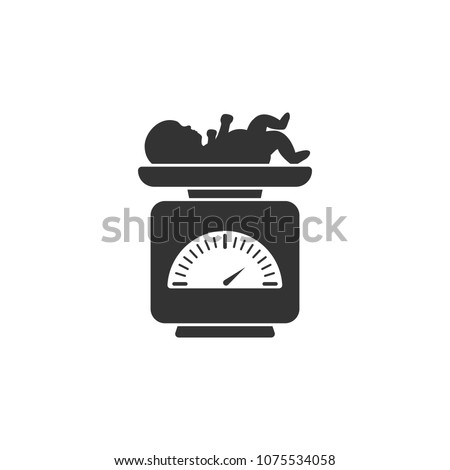 Weight scale for infant icon. Simple element illustration. Weight scale for infant symbol design from Pregnancy collection set. Can be used in web and mobile on white background
