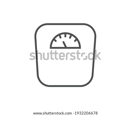 Weight scale vector icon sign symbol Сток-фото ©