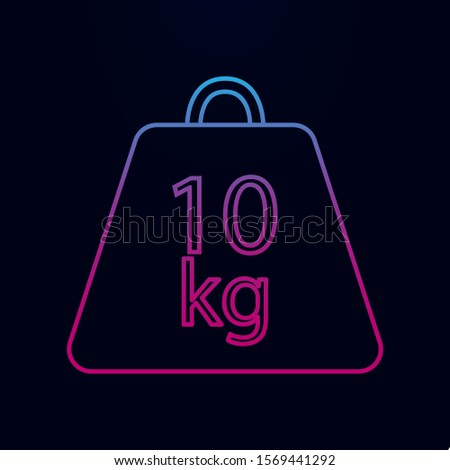 Weight symbol 10 kilograms nolan icon. Simple thin line, outline vector of measure icons for ui and ux, website or mobile application