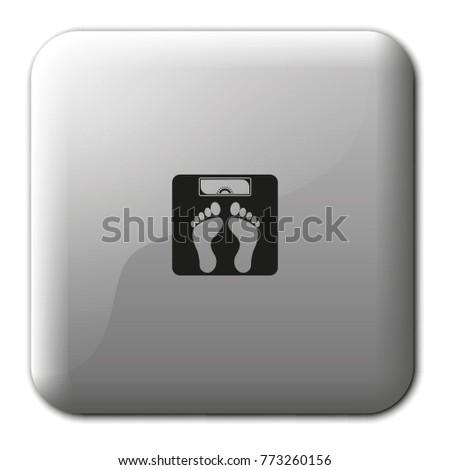 weighting flat vector icon