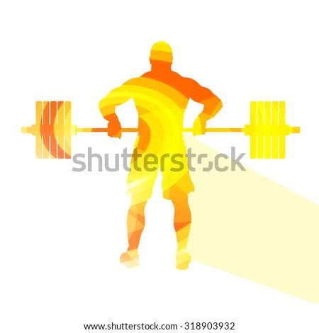 weightlifter man silhouette