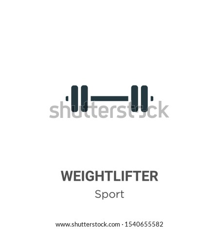 Weightlifter vector icon on white background. Flat vector weightlifter icon symbol sign from modern sport collection for mobile concept and web apps design.