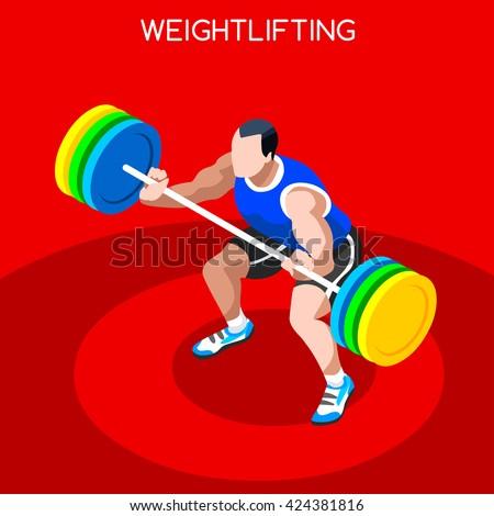 weightlifting athlete sportsman