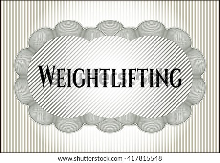 Weightlifting colorful card