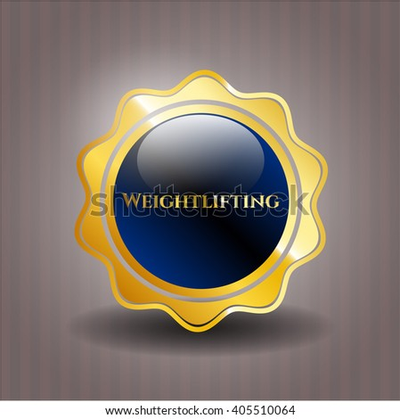 Weightlifting gold badge