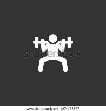 weightlifting icon vector. weightlifting vector graphic illustration
