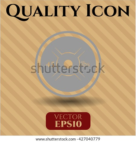Weightlifting or powerlifting plate (45 lbs) icon, Weightlifting or powerlifting plate (45 lbs) icon vector, Weightlifting or powerlifting plate (45 lbs) icon symbol