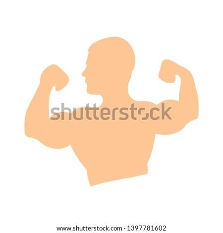 Weightlifting sport vector icon. filled flat sign for mobile concept and web design. Weightlifter sportsman bodybuilder  glyph icon. Symbol, bodybuilder logo illustration.
