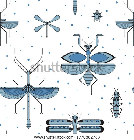 weird insect silhouettes on