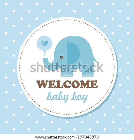 welcome baby card vector illustration